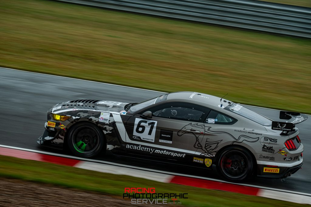 A Ford Mustang GT4 from Academy Motorsport.